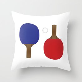 Ping Pong Rackets Throw Pillow