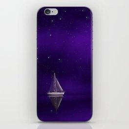 Purple Ship iPhone Skin