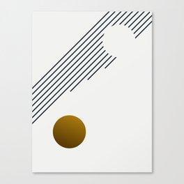 Soir 01 // Abstract Geometry Minimalist Illustration Canvas Print