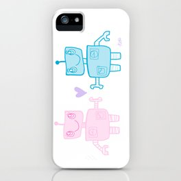 robots in love iPhone Case