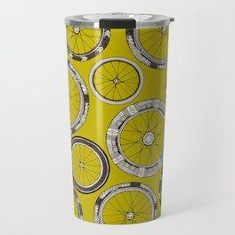 bike wheels chartreuse Travel Mug
