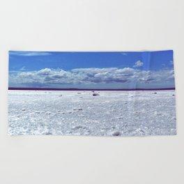 Salty horizon Beach Towel