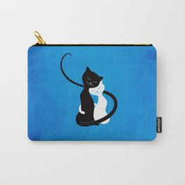 White And Black Cats In Love Carry-All Pouch