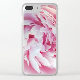 502 - Pink Peony Clear iPhone Case