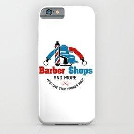 Barber Shop Sign iPhone Case