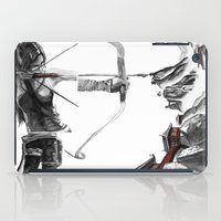 lara croft iPad Cases featuring Lara Croft: Dimensional Shift  by Sean Thomas McDowell