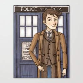 10th Doctor David Tennant Doctor Who Portrait Canvas Print