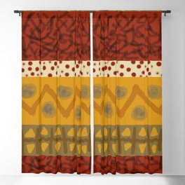 Africa Stripes pattern Blackout Curtain