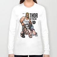 finland Long Sleeve T-shirts featuring Thor of Finland (Color Version) by Randy Meeks