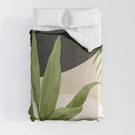 Abstract Art Tropical Leaf 11 Comforters