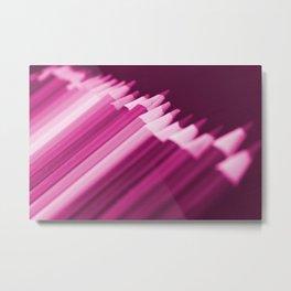 Pink Pencils Metal Print