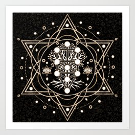 Kabbalah Art Prints For Any Decor Style Society6 It usually consists of 10 nodes symbolizing different archetypes and 22 lines connecting the nodes. kabbalah art prints for any decor style