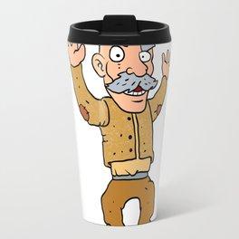 grumpy old man cartoon Travel Mug