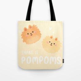 Pomeranian pom poms Tote Bag