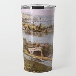 Vintage Aqueduct of Georgetown Map (1865) Travel Mug