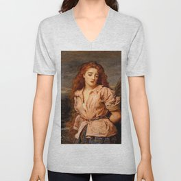 "John Everett Millais ""The Martyr of the Solway"" Unisex V-Neck"