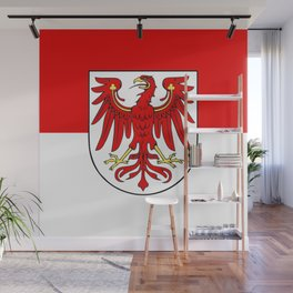 Flag of brandenburg Wall Mural