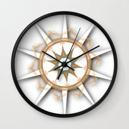 Compass Flower Wall Clock
