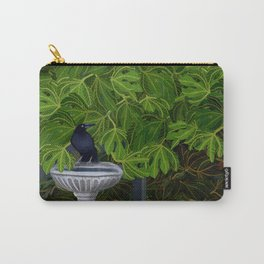 Currawong at the Bird Bath long version Carry-All Pouch