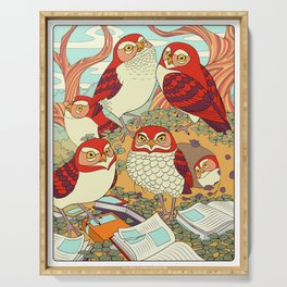 Burrowing Owl Family Serving Tray