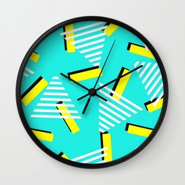 90's / Blue / Yellow Wall Clock