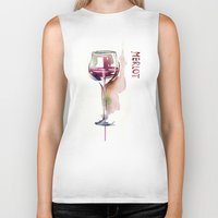 wine Biker Tanks featuring Wine by tatiana-teni