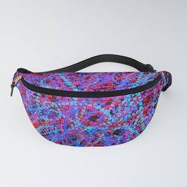storm of squares 2 Fanny Pack