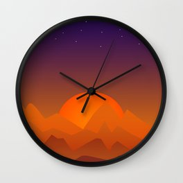 Slumbering Hills, Southwestern Landscape Art Wall Clock