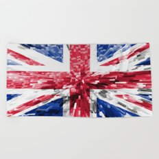 Extruded Flag of the United Kingdom Beach Towel