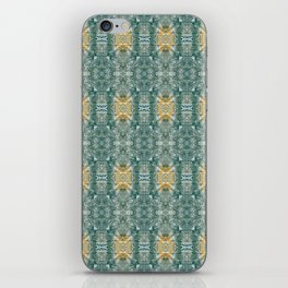 Copper Turquoise Southwestern Kaleidoscope Pattern iPhone Skin