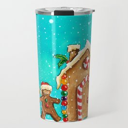 Christmas gingerbread party Travel Mug