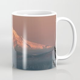Mount Hood Pastel Sunset - Nature Photography Coffee Mug