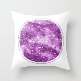 Northern Stars Rose Throw Pillow