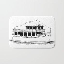 Old Ferry Boat Bath Mat