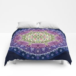 Colourful Dragonfly Mandala Comforters