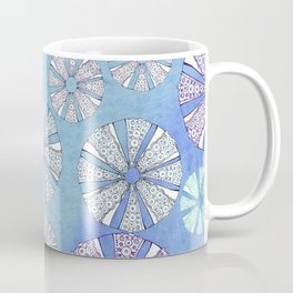 sea urchin blue watercolor Coffee Mug