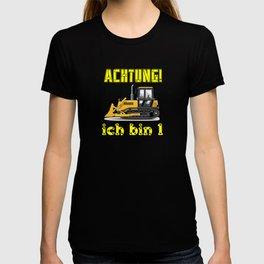 Achtung! Ich bin 1 Geburtstag baufahrzeuge T-shirt