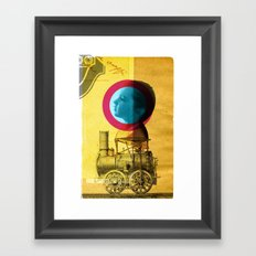 A childhood journey between reality and imagination... Framed Art Print