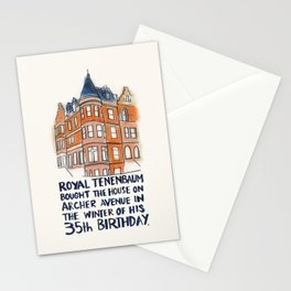 Royal Tenenbaum House Stationery Cards