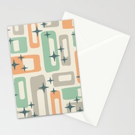 Mid Century Modern Geometric Abstract 190 Stationery Cards
