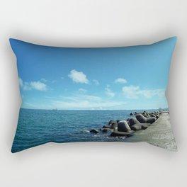 Black sea Rectangular Pillow