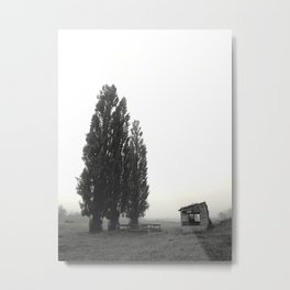Tree wise men and a barn Metal Print