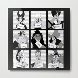 D Villains in Jail Metal Print
