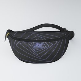 Ride the Spiral - Blue Neon Squares Fanny Pack