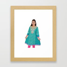 Summer Cotton Kurtis For Womens Framed Art Print