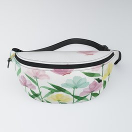 """Simplistic Spring Meadow"" watercolor illustration Fanny Pack"