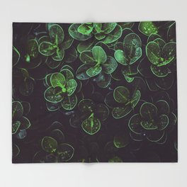 NATURE - LEAVES - FRESH - PHOTOGRAPHY Throw Blanket