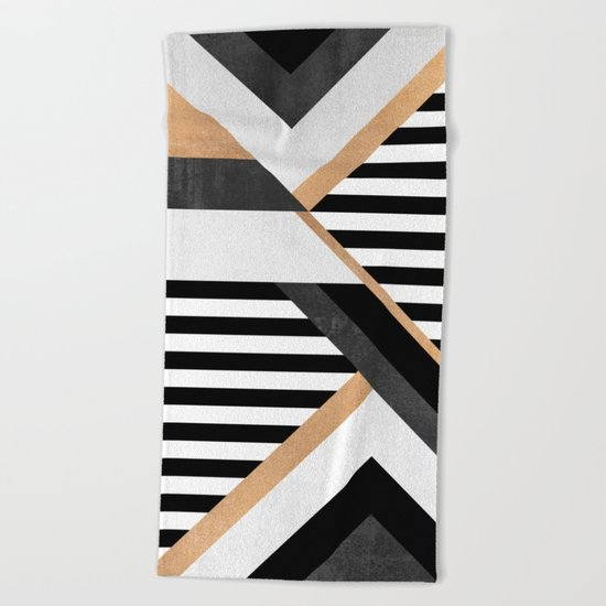 Stripe Combination Beach Towel