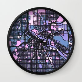 Minneapolis Minnesota Colorful Map Wall Clock