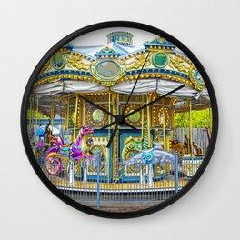 Carousel Ride in Pittsburgh Pennsylvania Wall Clock
